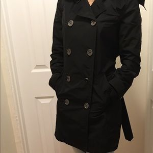 Burberry hooded trench coat sz 6